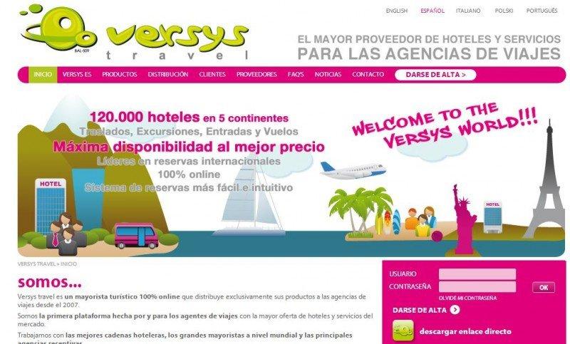 Web de Versys Travel.