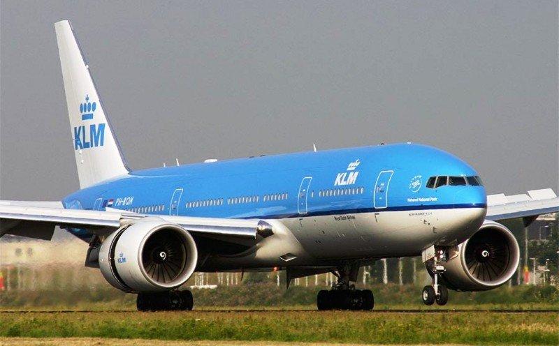 Foto de archivo de un avión B777 de KLM.