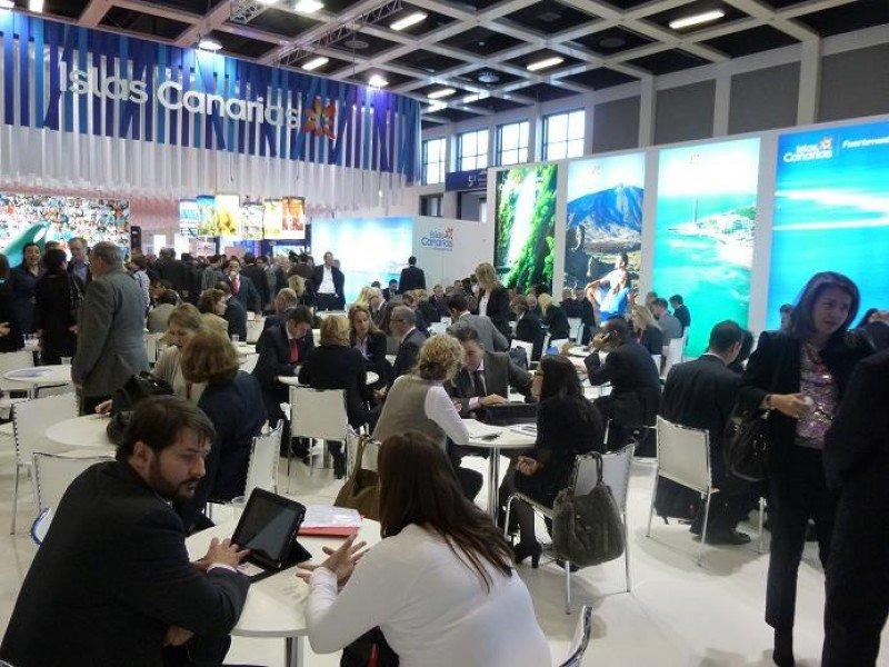 Estand de Canarias en la ITB 2013.