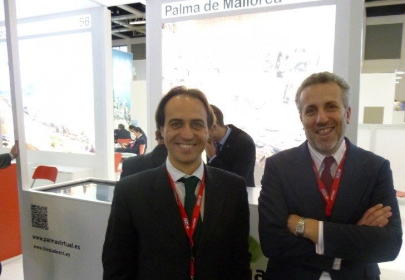 El teniende de alcalde de Turismo de Palma de Mallorca, Álvaro Gijón, y el gerente de la Fundación Palma 365, Pedro Homar.