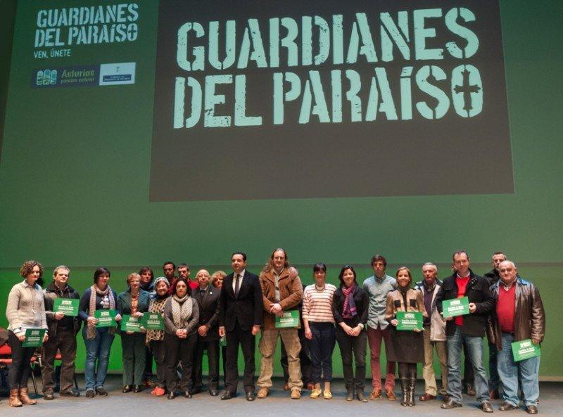 Primeros participantes en la iniciativa Guardianes del Paraíso.