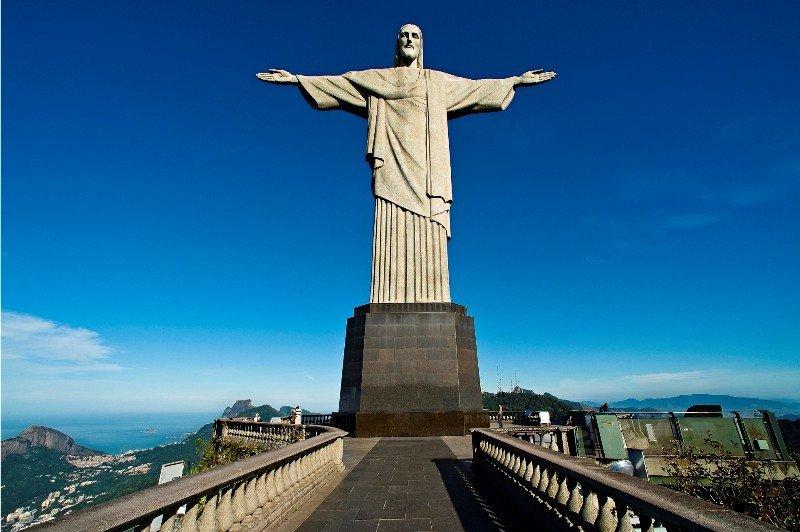 Monumento Cristo Redentor, en Rio de Janeiro, Brasil.