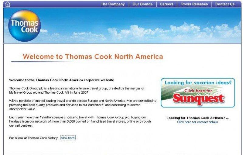 Thomas Cook vende su negocio en Norteamérica