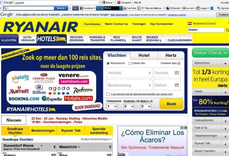 Multan a Ryanair con 370.000 € por quebrantar normas europeas de venta online