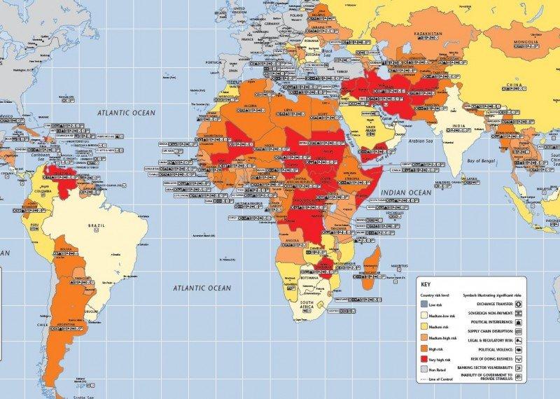 Los destinos emergentes que mejoran su seguridad y los que empeoran en 2013.