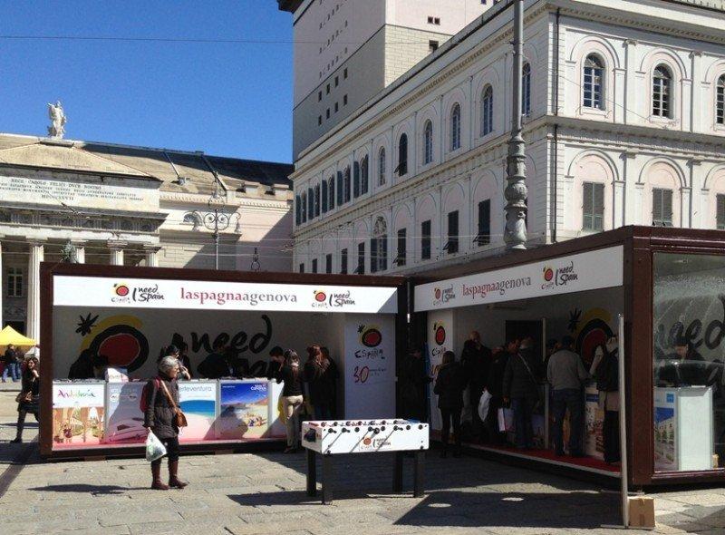 España promociona su oferta en Génova.