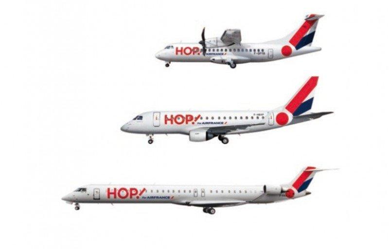 Hop! dispone de una moderna flota de 98 aviones con capacidades entre 48 y 100 asientos.