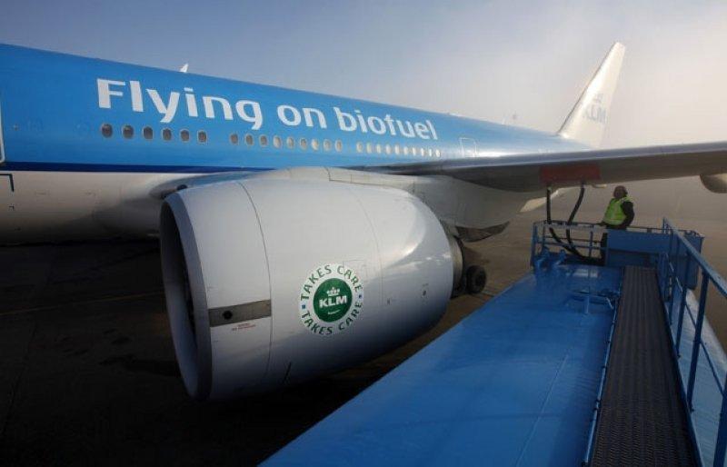 Boeing 777 de KLM impulsado por biocombustible