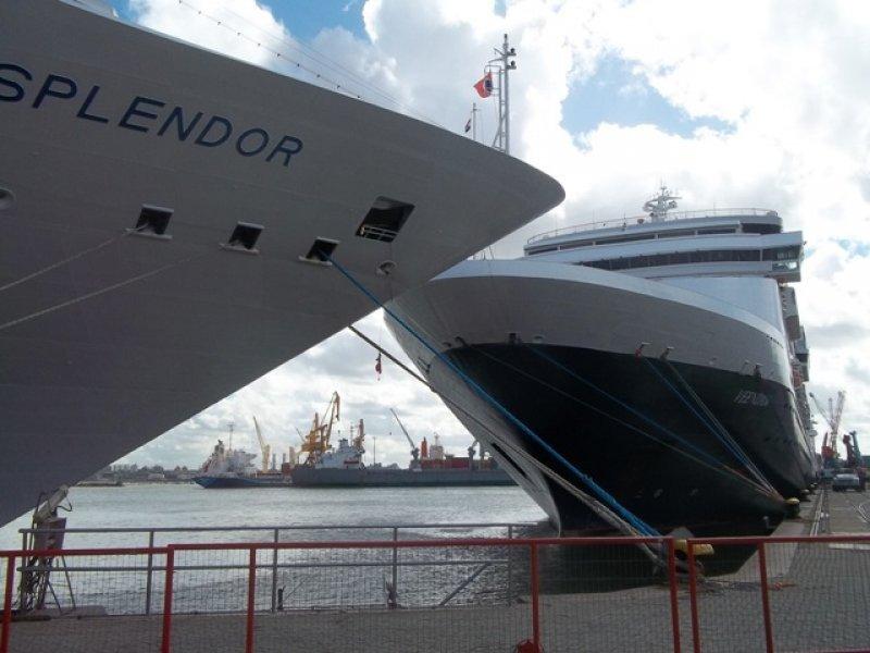 En Montevideo ha llegado a haber hasta seis cruceros en el mismo día