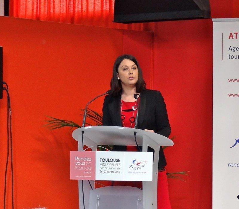 La ministra de Industria, Comercio y Turismo, Sylvia Pinel, ha intervenido en la feria celebrada en Toulouse.