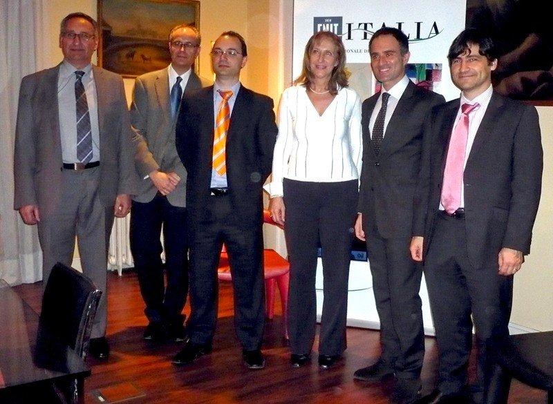 Representantes del ENIT, Embajada de Italia y Turespaña.