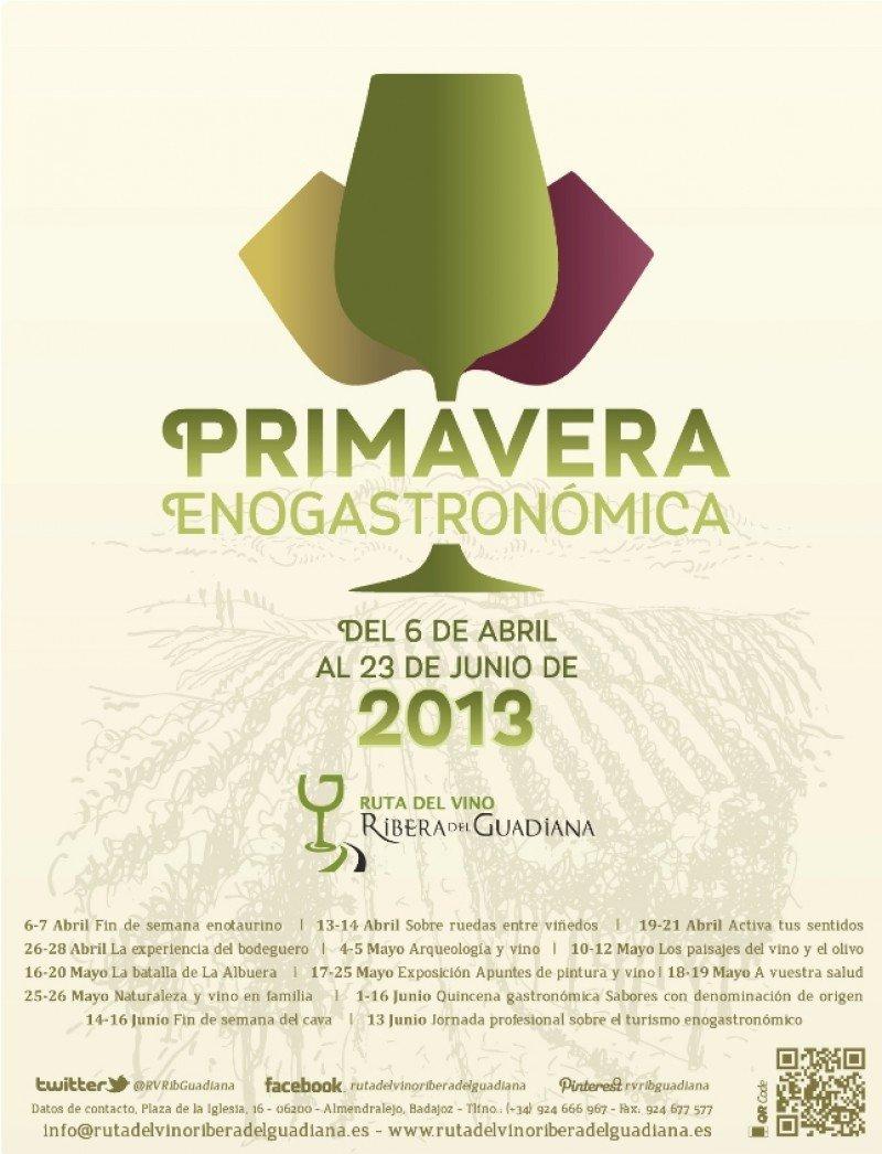 Cartel de la Primavera Enogastronómica.