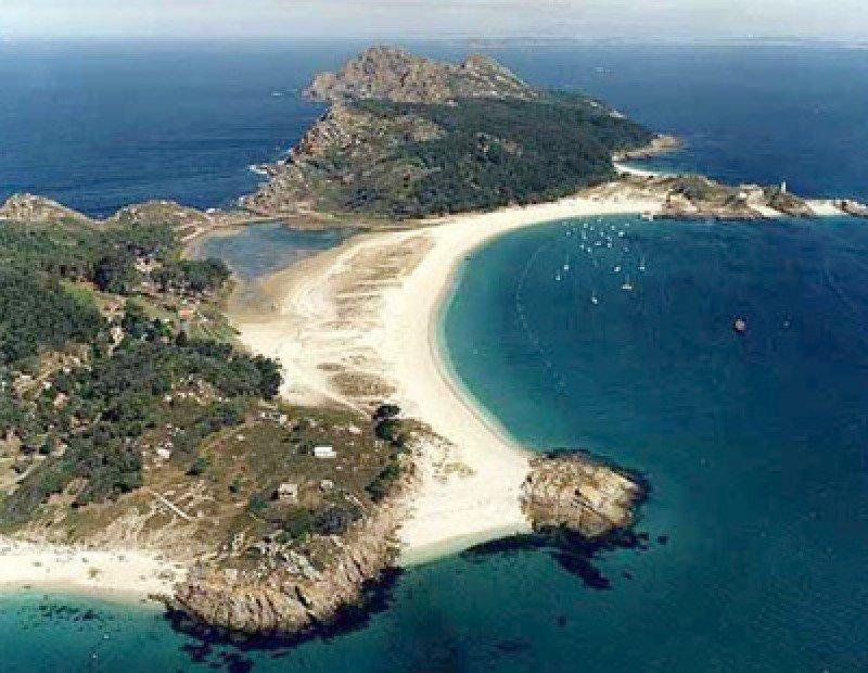 Islas Cíes, frente a Vigo.