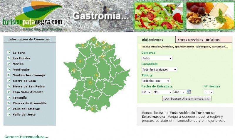 Lanzan un nuevo portal para el turismo rural de Extremadura.