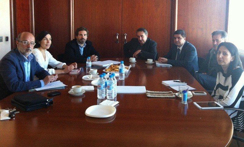 Imagen de la reunión de las patronales de Baleares, para analizar la nueva ley.