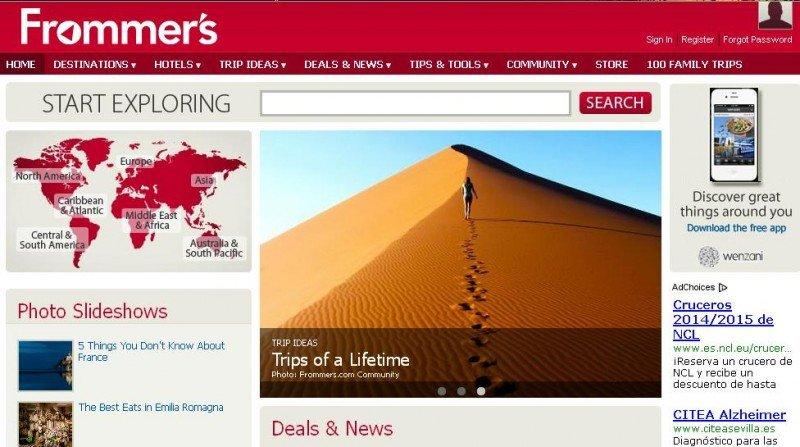 Google revende la compañía de guías de viaje Frommer's a su fundador
