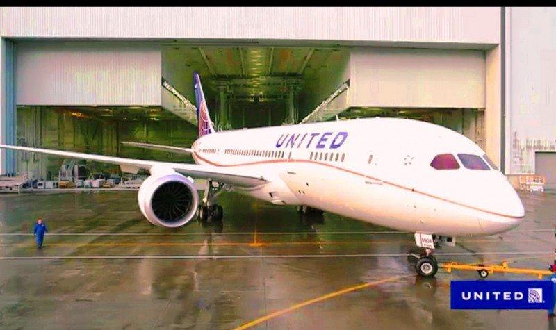 United Airlines reanudará sus vuelos con el B787 Dreamliner en mayo
