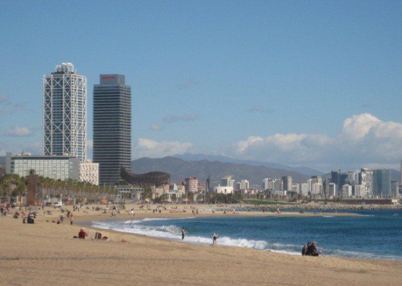 Vista de las playas de Barcelona.