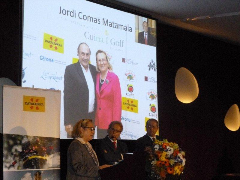 Un momento del homenaje a Jordi Comas Matamala.