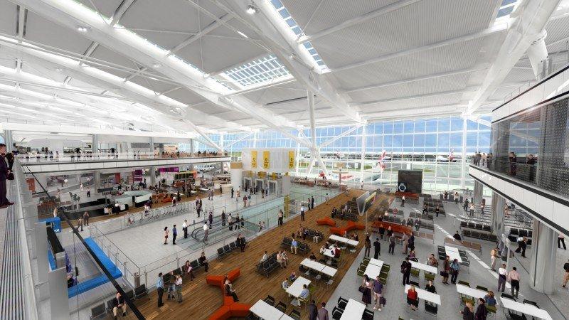 Área de salidas de la Terminal 5 de Londres Heathrow.