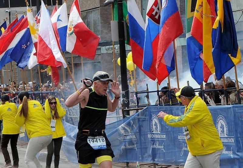 El terror sacude la Maratón de Boston.Imagen: rtve/Reuters.