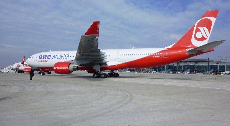 Airberlin opera este verano más de 120 vuelos diarios a España y Portugal