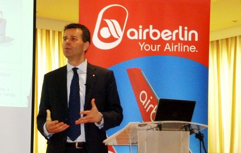 El director para España y Portugal, Paul Verhagen, dstaca que uno de cada tres pasajeros que transporta airberlin está volando entre Alemania y España.