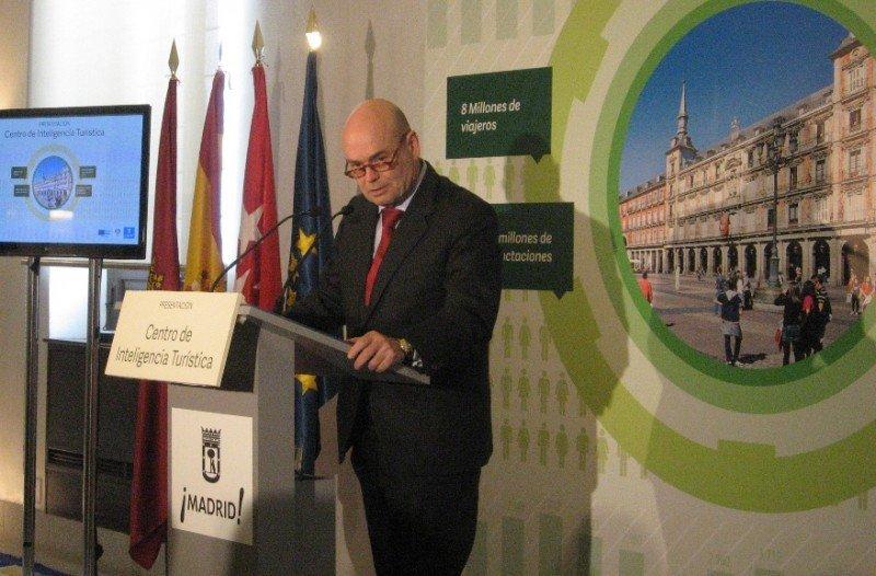 Fernando Villalonga presenta el Centro de Inteligencia Turística en Madrid.