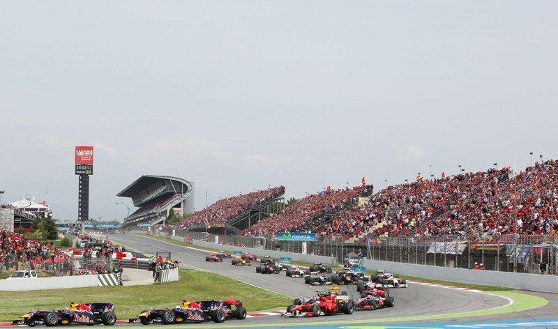 Pruebas de F-1 en el Circuit de Catalunya.