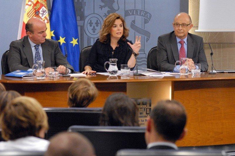 Rueda de prensa tras el Consejo de Ministros.