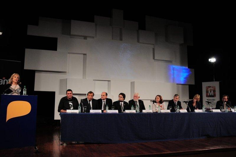 Presentación del proyecto del Antel Arena en el ex Cilindro de Montevideo