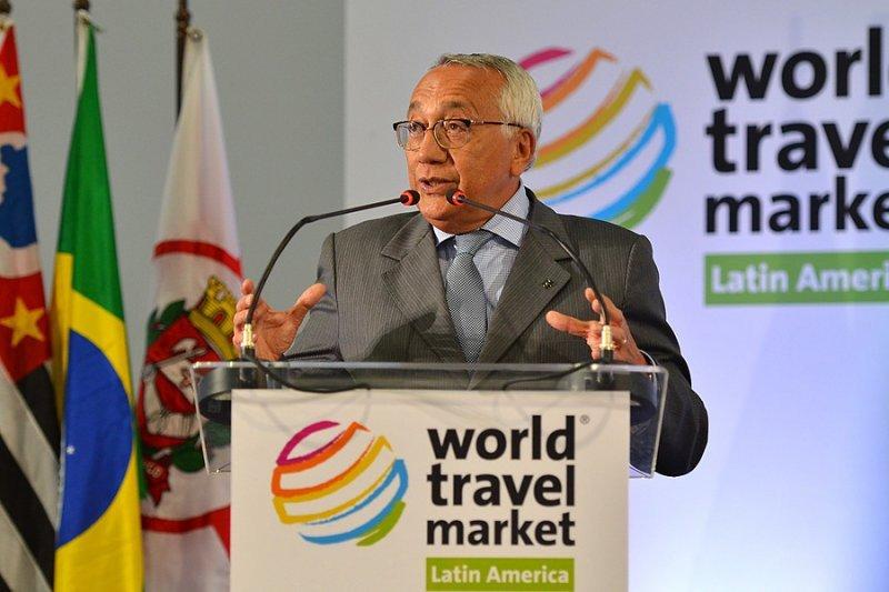 Ministro de Turismo de Brasil, Gastao Viera, en la inauguración de la WTM Latin America