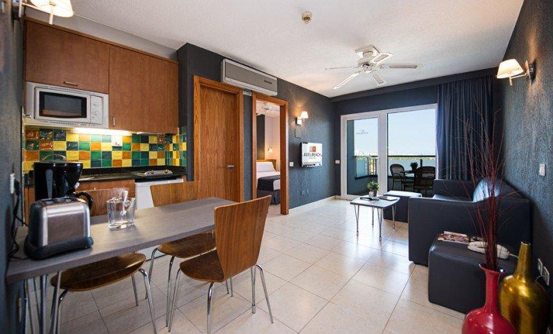 El AxelBeach Maspalomas dispone de 92 apartamentos totalmente equipados.