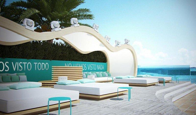 La piscina del nuevo establecimiento albergará fiestas exclusivas dos días en semana.