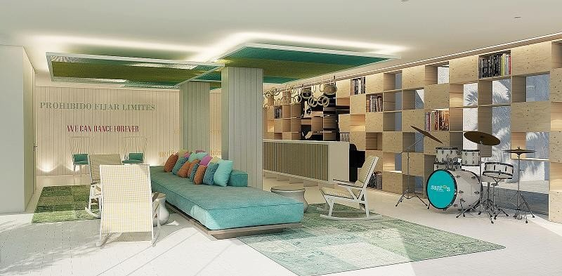 Recepción del Santos Ibiza Coast Suites.