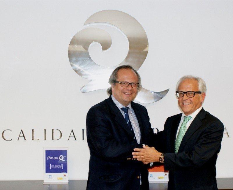 El presidente del ICTE, Miguel Mirones y el Concejal de Turismo de Las Palmas, Pablo Barbero.
