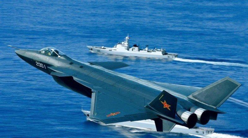 Un avión de combate chino. El presupuesto militar de China ha ido en aumento en la última década.