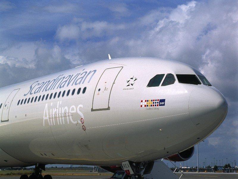 Un avión del grupo escandinavo SAS.