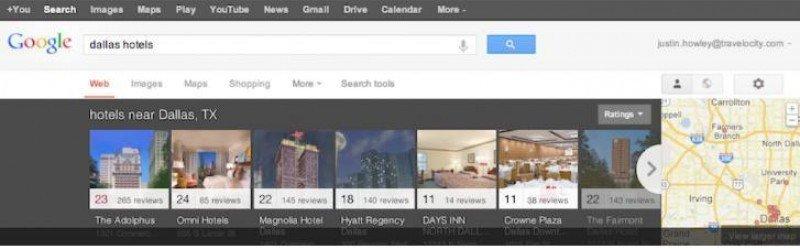 Google está probando un buscador visual de hoteles