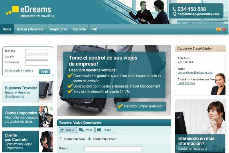 eDreams inicia actividad en los viajes de empresa