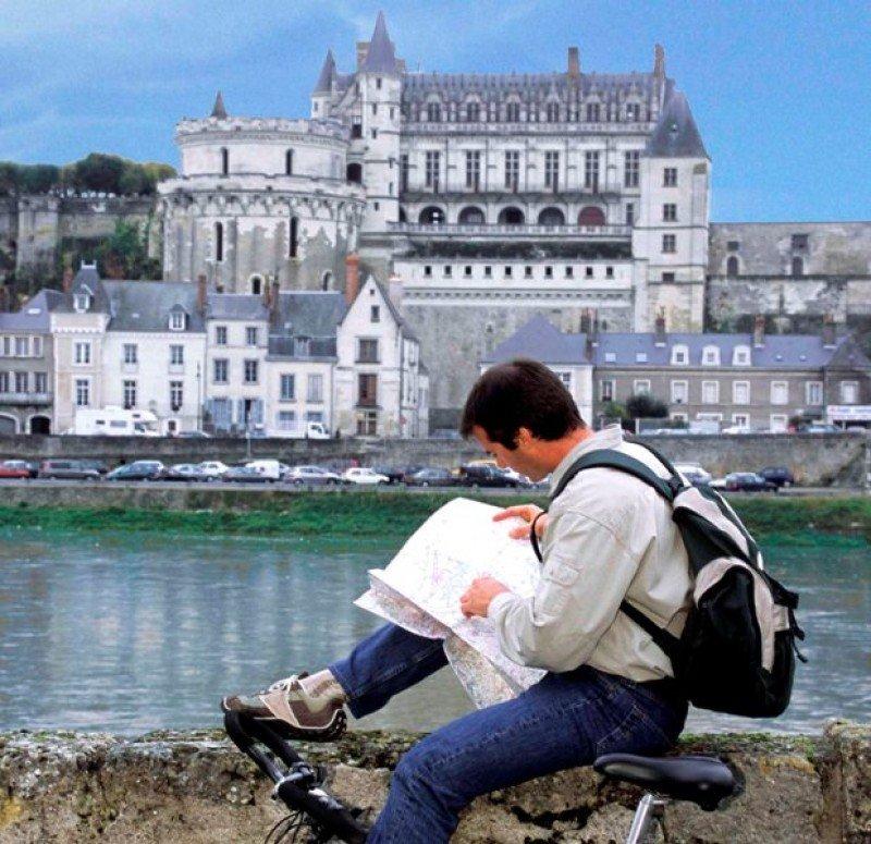 Cicloturismo en el Valle del Loira.