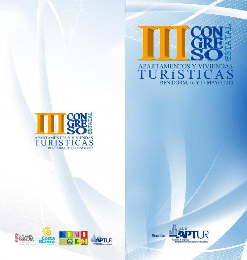 Cartel del III Congreso Estatal de Apartamentos y Viviendas Turísticas de APTUR.