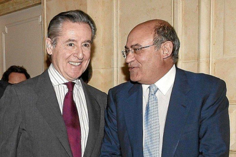 Miguel Blesa, ex presidente de Caja Madrid, junto a Gerardo Díaz, ex copropietario de Marsans.
