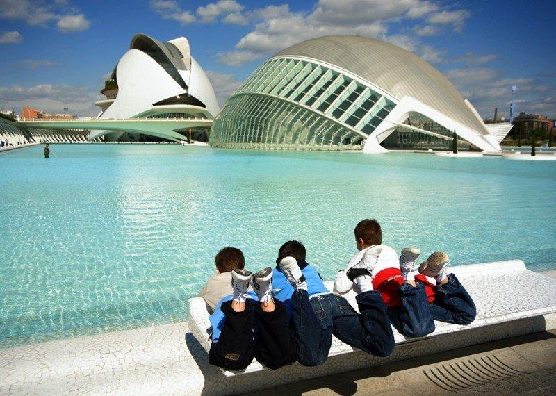 Ciudad de las Artes y las Ciencias, Valencia.