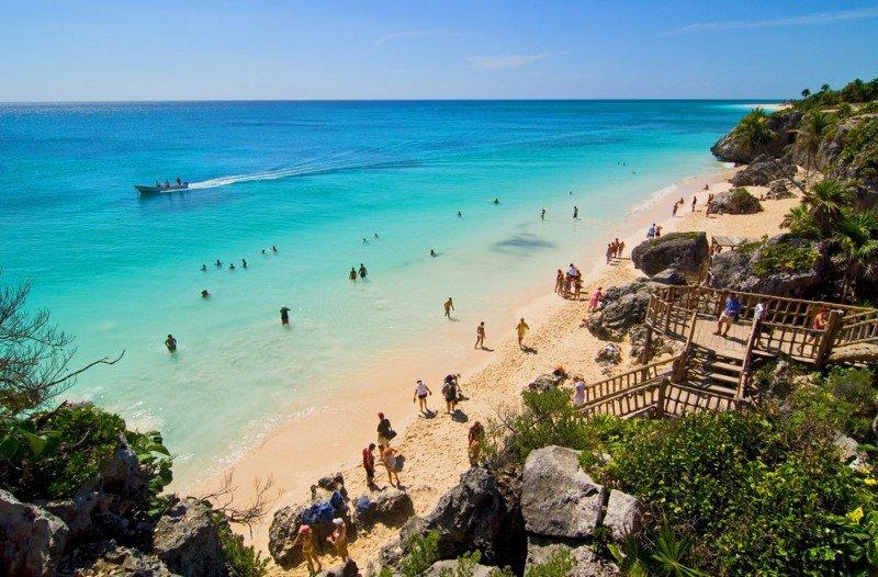 México se encuentra en el número 24 del ranking de ingresos por turismo. En la foto: Tulum. #shu#