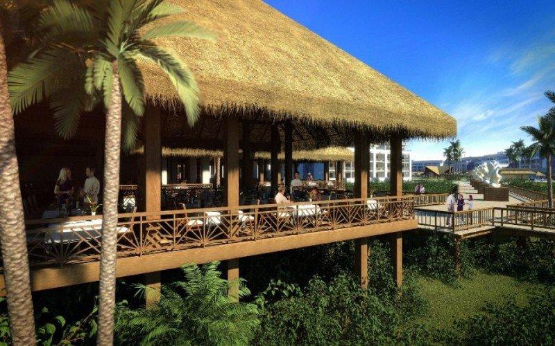 Instalaciones de uno de los Paradisus de Playa del Carmen (México).