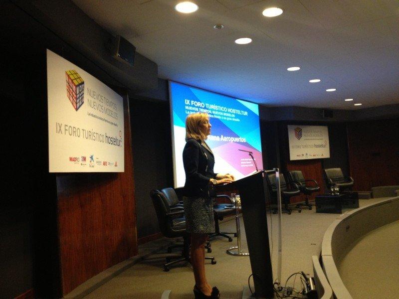 La consejera de Empleo, Turismo y Cultura de la Comunidad de Madrid, Ana Isabel Mariño, en el Foro Hosteltur.