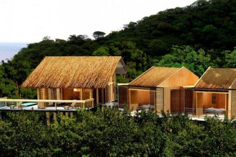 Infografía del hotel que querían construir en el Parque Tayrona, cuya construcción rechazó el presidente colombiano.