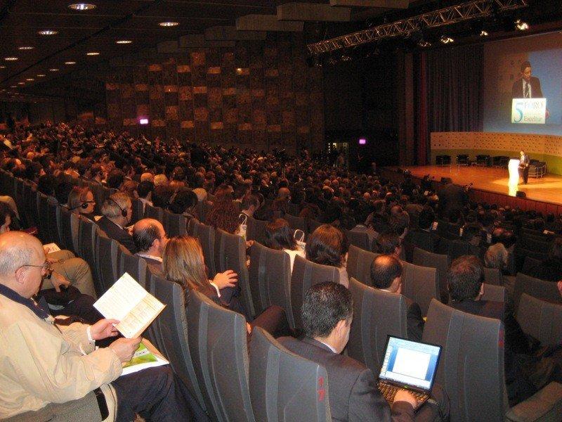 Imagen de un foro internacional de turismo organizado por Exceltur.