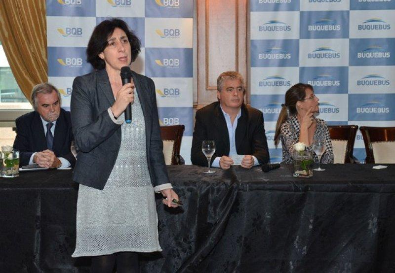Patricia Pécora, directora ejecutiva del Ente Turismo de la Ciudad de Buenos Aires, en su presentación en Montevideo